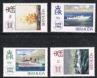 Bermuda SG566-569 1988 300th Anniversary of Lloyd's of London set 4v complete unmounted mint